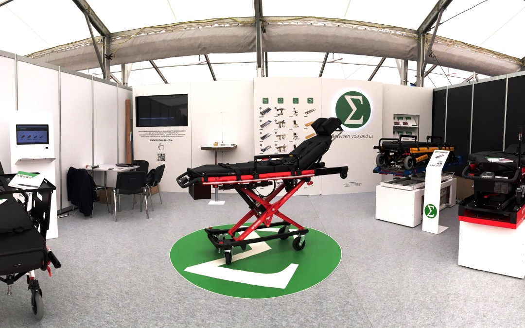 PROMEBA presented the revolutionary electric stretcher PC-750 in the RETTmobil 2016 (Fulda)