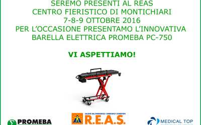 PROMEBA presents the revolutionary electric stretcher PC-750 in the R.E.A.S