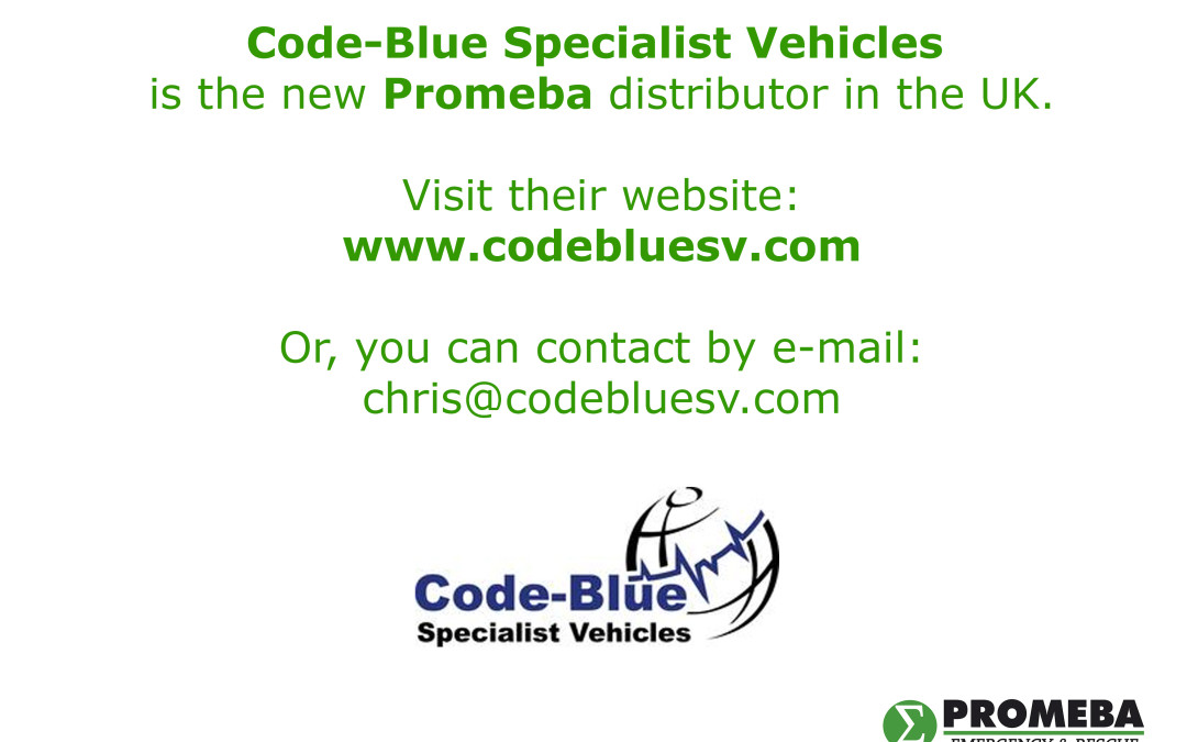 Code-Blue Specialist Vehicles, new distributor in United Kingdom